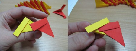 Origami decoratiune de Craciun
